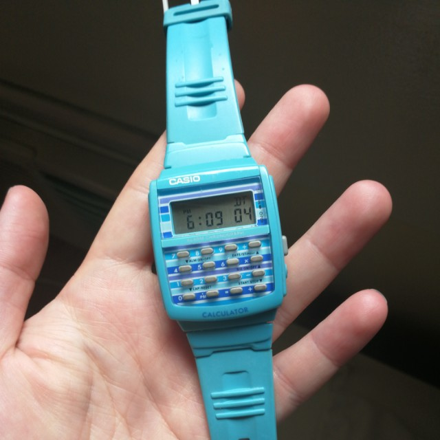 Sky Blue Casio Calculator
