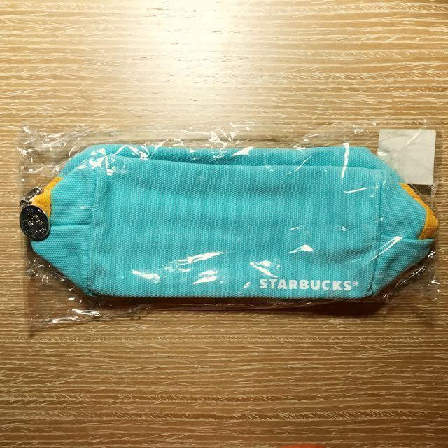 Starbucks 星巴克粉彩萬用包(Tiffany 藍)