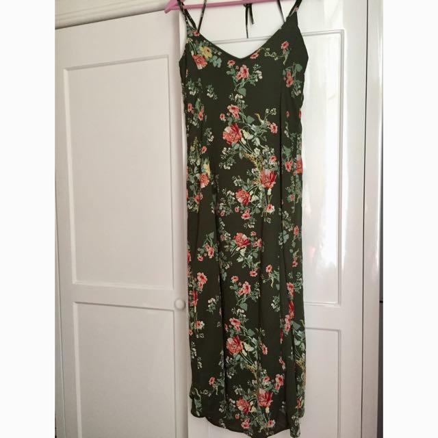 Stradivarius Floral Long Dress