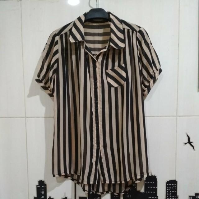 Stripe Sheer Top
