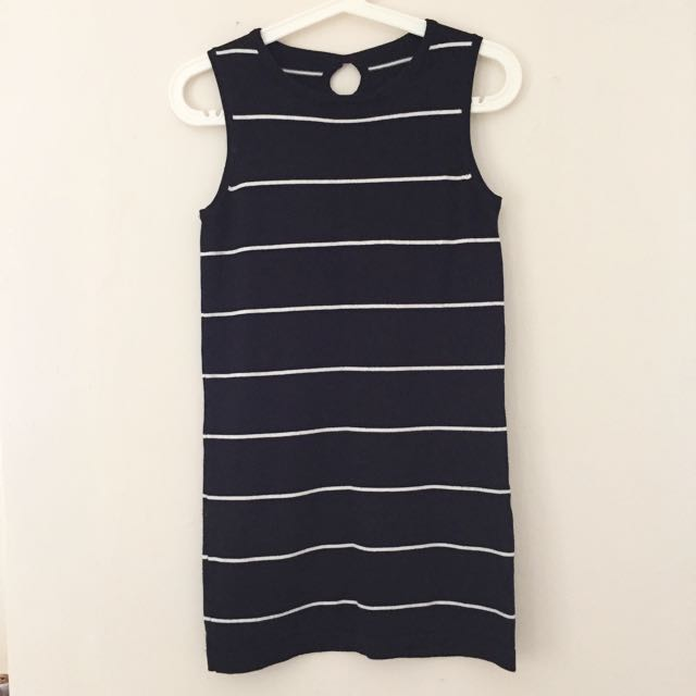 Striped Key Hole Shift Dress