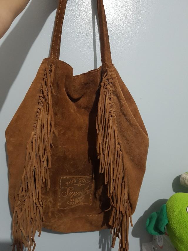 Sale!!! Super dry suede hobo bag