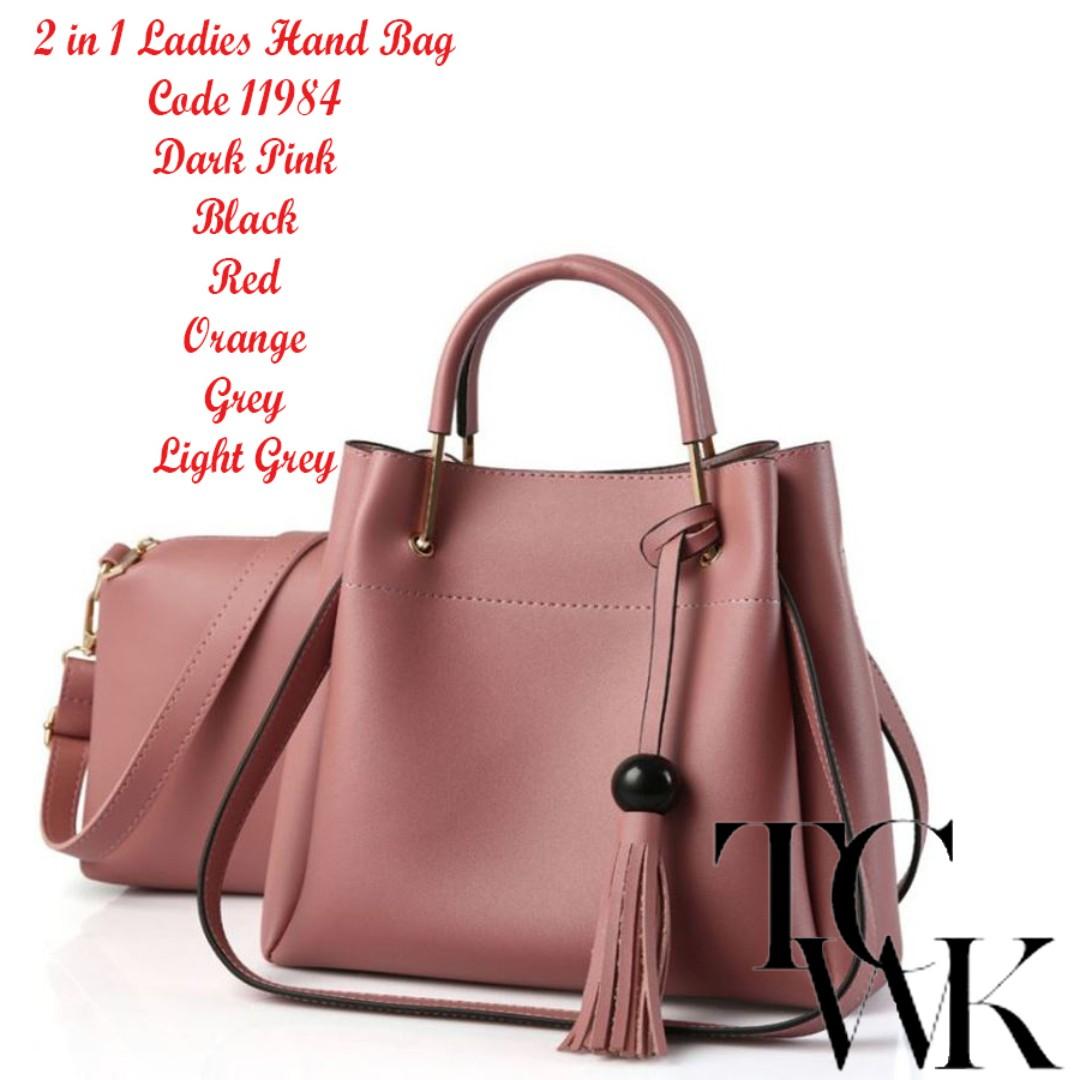 ffd9875b29c TCWK Korea Style 2 in 1 Ladies Handbag 11984