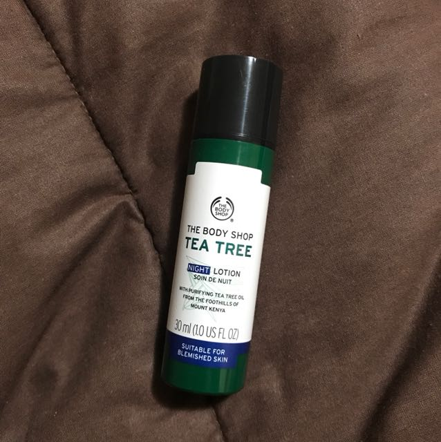 tea tree night lotion the body shop