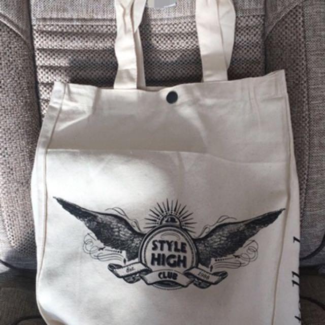 全新Ted baker限量帆布袋購物袋環保袋
