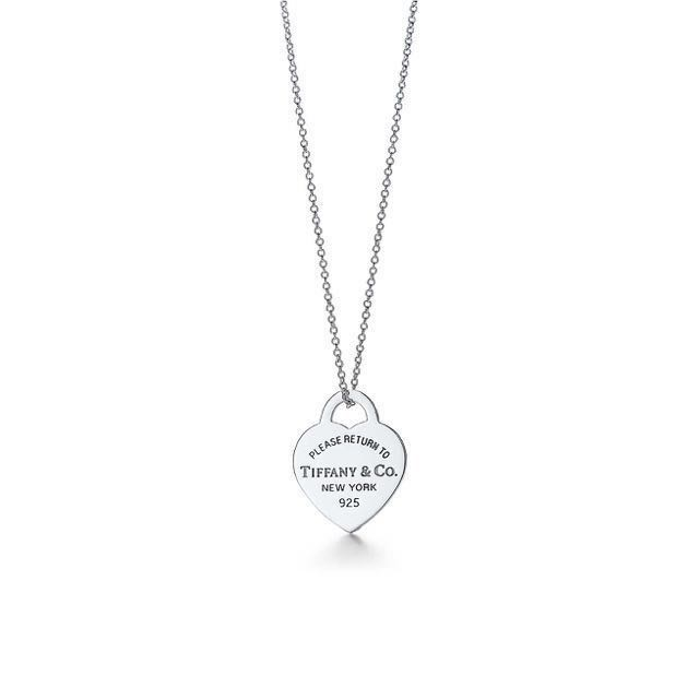 TIFFANY AND CO HEART PENDANT AND CHAIN