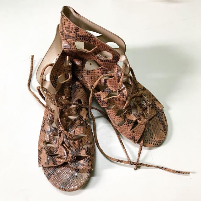 Topshop Snakeskin Sandals