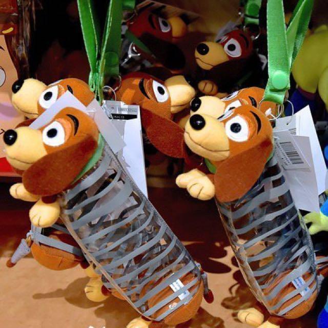 日本Toyko 東京迪士尼 玩具總動員 彈簧狗立體造型筆袋
