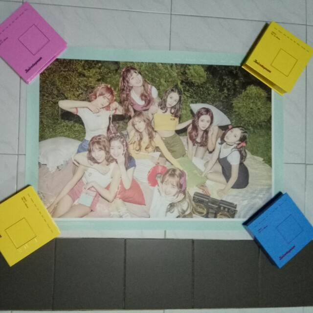 Twice Official Twicetagram Poster Mint Version