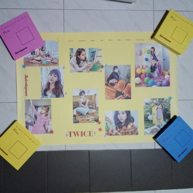 Twice Official Twicetagram Poster Yellow Version