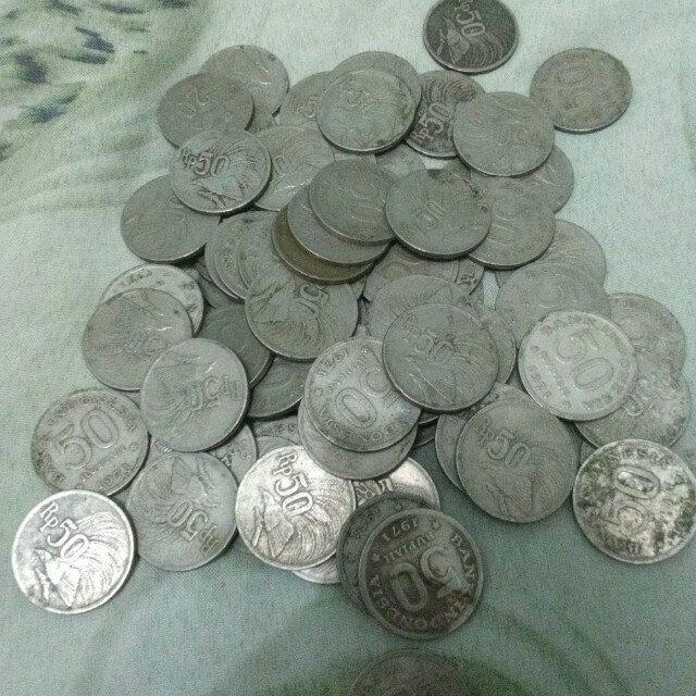 Uang Kuno Koin Rp 50 th 1971