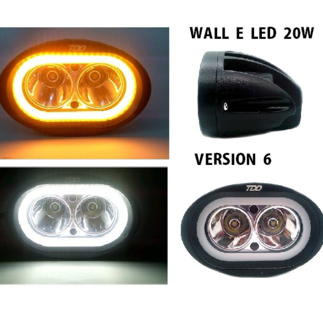 V6 wall e led motorcycle fog lights version 6 20w auto accessories photo photo aloadofball Images