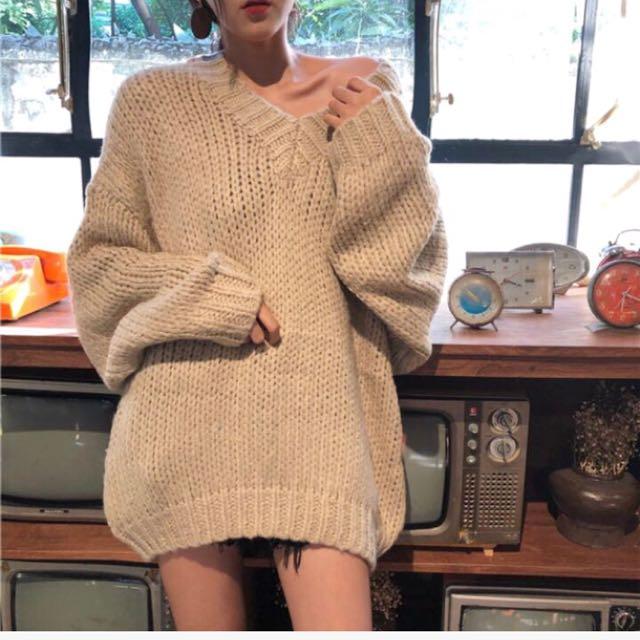 V領氣質毛衣