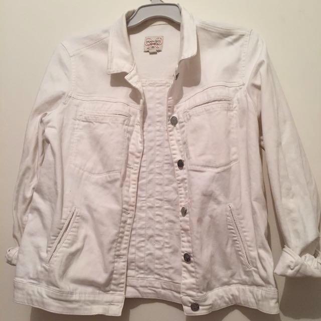 Vintage White MANGO Denim Jacket
