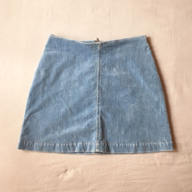 WEEKDAY Denim A-Line Skirt
