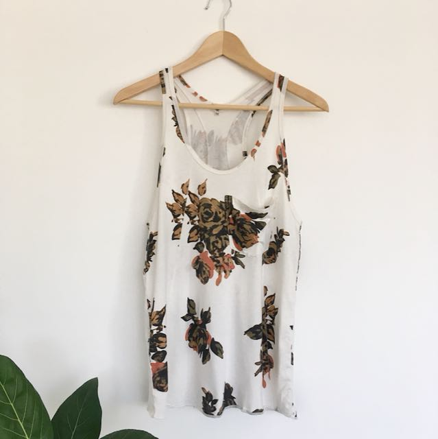 Wilfred racer back Floral tank top | small