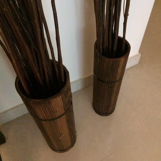 Wooden crate/vase - 1 left!