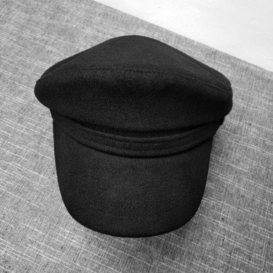 Woolen Newsboy Cap Hat - Black