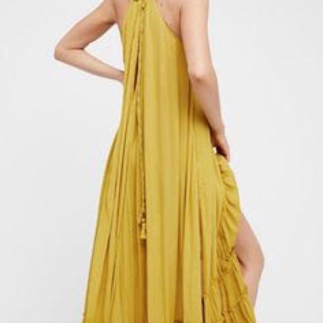Wrap Around Maxi Dress - Lime