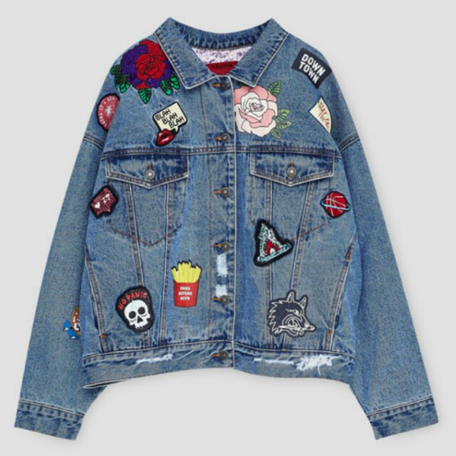 WTB (WANT TO BUY) PULL AND BEAR DENIM JACKET WITH PATCH