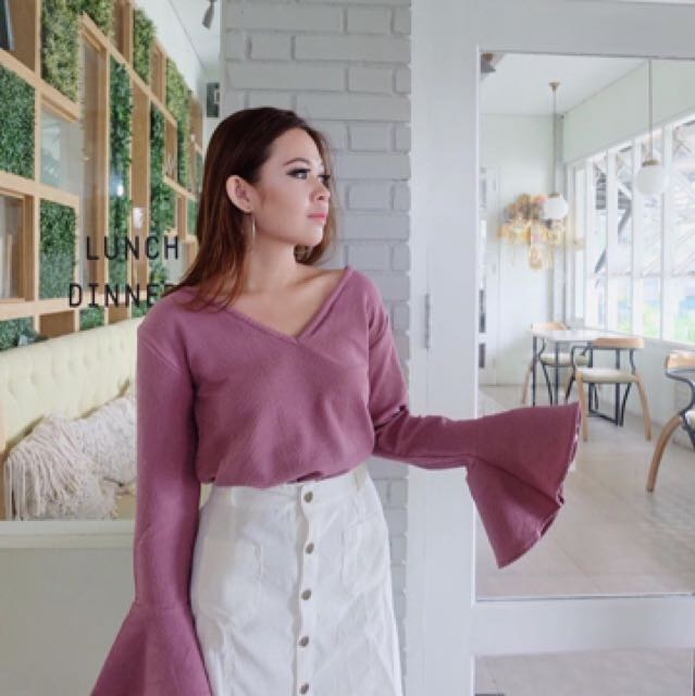 Xixi knit top purple