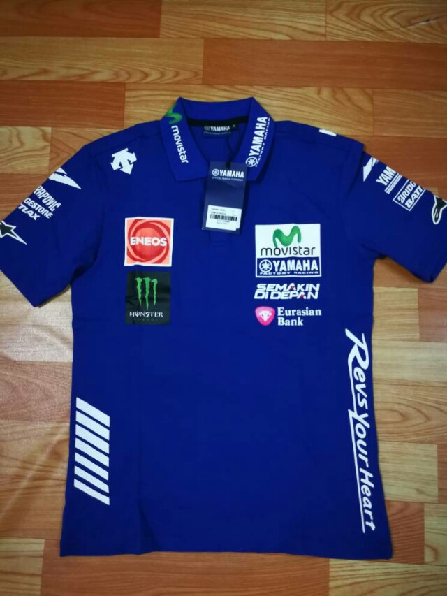 Yamaha Movistar Polo Tshirt Valentino Rossi Vr46 Mv25 Men S