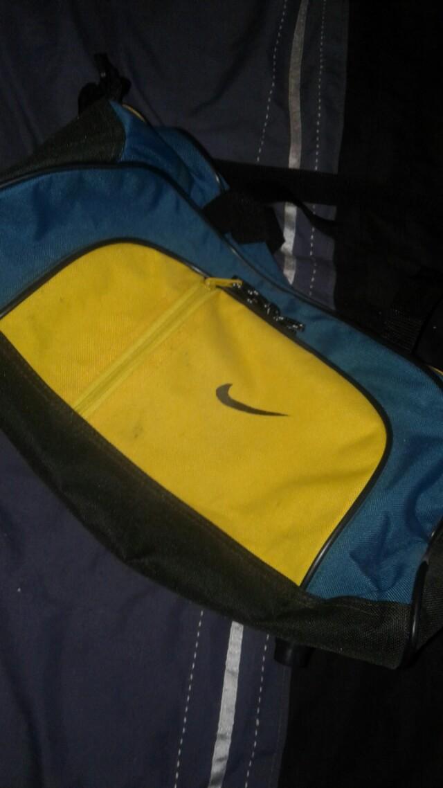 Yellow & Green Nike Bag