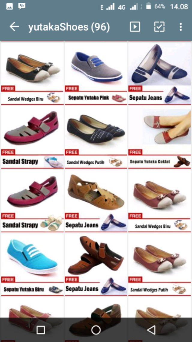 Yutaka Sepatu Slip On Cream gratis Sandal Wedges Putih Indonesia - Yutaka Flat Shoes. Source