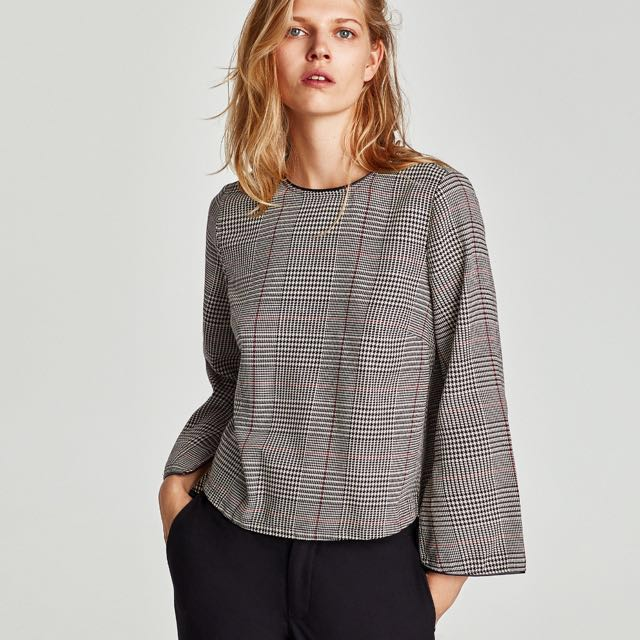 ZARA inspired checkered top