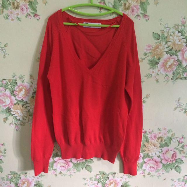 Zara Orange Sweatshirt