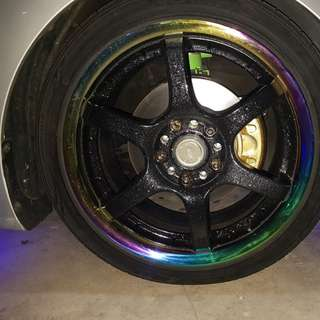 Original rays sport rims with rainbow lip