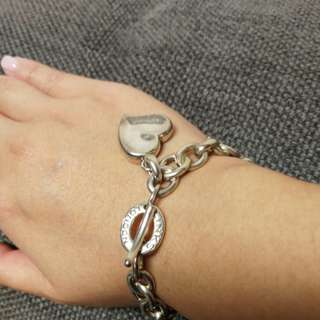 Links of London signature bracelet with big heart