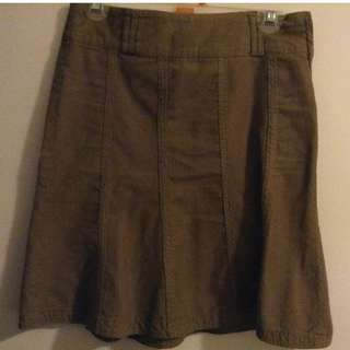 Courdroy Smart Set brown skirt- Size S