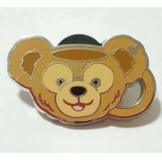 迪士尼 Disneyland Pin Duffy 達菲熊 茶杯造型 徽章 Game Pin