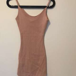TIGHT BODYCON DRESS - DUSTY PINK