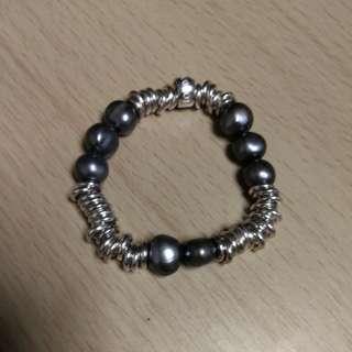 Links of London sweetie bracelet with black pearl