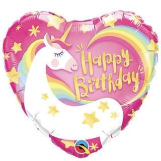 Happy Birthday Unicorn Foil Balloon (Helium)