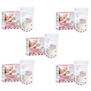 5 x Autumnz Double ZipLock Breastmilk Storage Bag 12oz (25 bags/pack)