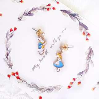 Alice in The Wonderland 愛麗絲耳環