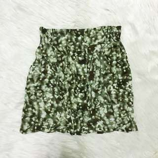 Cotton On printed green skirt