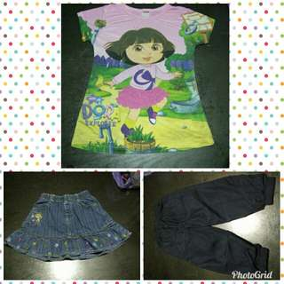 Combo set Tshirt n skirt