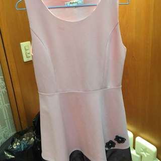 🚚 粉色氣質洋裝