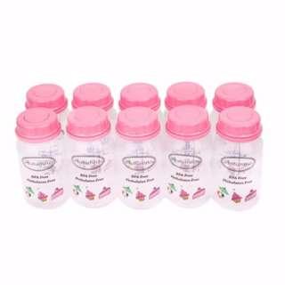 10 x Autumnz PP B/Milk Storage Bottle (Baby Pink Sweeties)