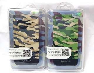 旅遊 系列 iphone SE 5 S case 手機殼 機殼 機套 凹凸紋效果正版 迷彩 版