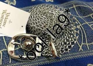 vivienne westwood 腰帶 皮帶 全銀色及 金屬 100%正貨 日版 有收據證明 日本直送