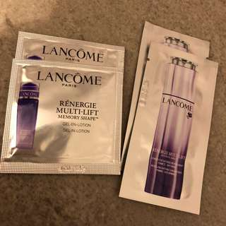 lancome  multi lift gel-in-lotion /revitalising intense concentrate 2ml