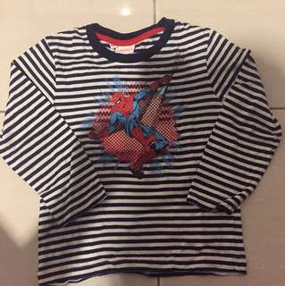 Kaos stripe spiderman