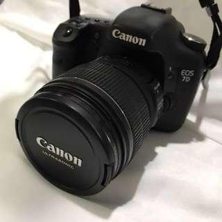 Preloved Canon 7D + Lens EFS 15-85mm Macro 0.35m/1.2ft