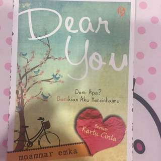 novel 'dear you'