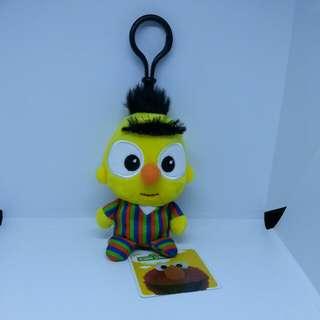 "Brand New 4"" Sesame Street Bert Figurine Plush Stuffed Soft Toy Beanbag Keychain"